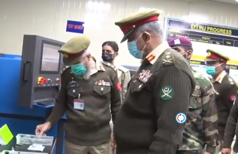 آرمی چیف جنرل قمرجاوید باجوہ کا راولپنڈی میں لاجسٹک تنصیبات کا دورہ