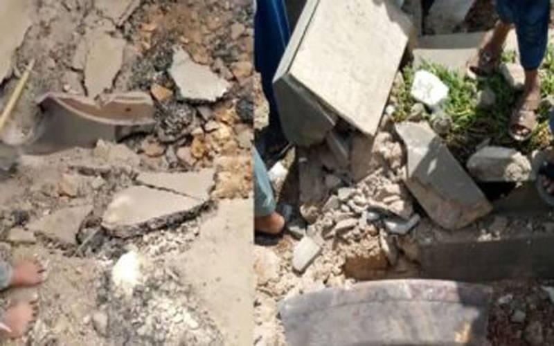 فضا سے دو آہنی اشیا قبرستان میں آگریں،1مزدور زخمی