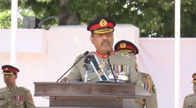 پاکستان ملٹری اکیڈمی کاکول میں پاسنگ آؤٹ پریڈ، جنرل ندیم رضا تھے مہمان خصوصی
