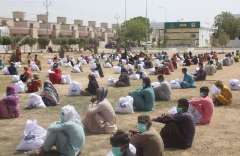 پاکستان نیوی کی جانب سے ماہ رمضان میں مستحق خاندانوں میں راشن تقسیم