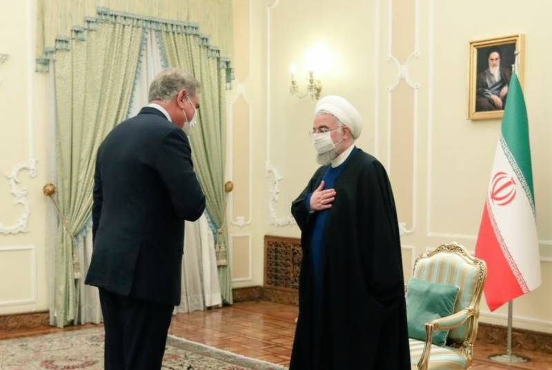 تہران: وزیر خارجہ مخدوم شاہ محمود قریشی کی ایران کے صدر ڈاکٹر حسن روحانی سے ملاقات