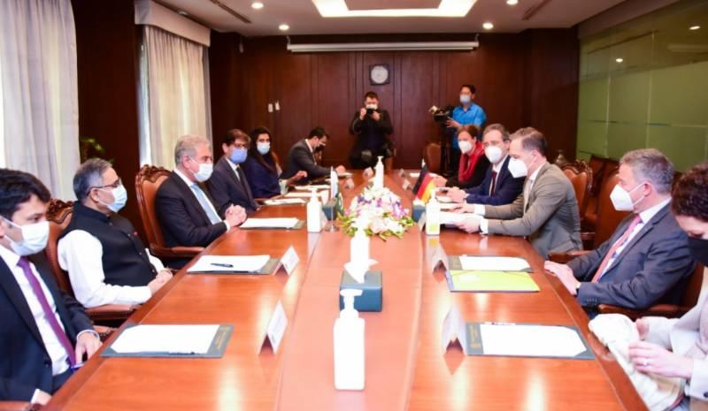جرمن وزیر خارجہ ہائیکو ماس کی وزارتِ خارجہ آمد اور وزیرِ خارجہ مخدوم شاہ محمود قریشی سے ملاقات