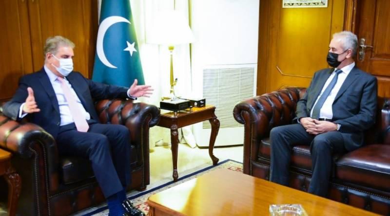وزیر خارجہ شاہ محمود قریشی سے پاکستان میں تعینات فلسطین کے سفیر احمد جواد امین ربعئی کی ملاقات