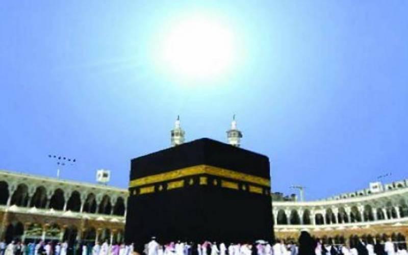 سورج آج پاکستانی وقت کے مطابق دوپہر 2 بج کر 18منٹ پر عین خانہ کعبہ کے اوپر ہوگا
