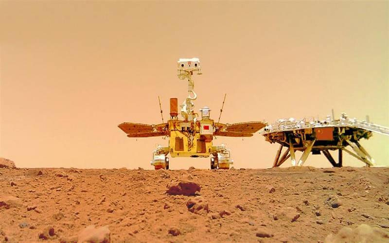 چین نےمریخ سیارے پر قومی پرچم کی حامل مریخ کی نئی تصاویر جاری کردیں