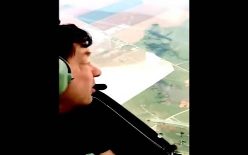 امریکی پائلٹ کی تیز طوفان میں پرواز کی ویڈیو وائرل
