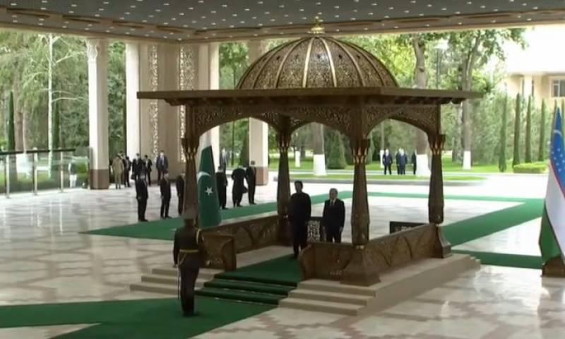 تاشقند ازبکستان میں وزیراعظم عمران خان کے اعزاز میں استقبالیہ تقریب ہوئی