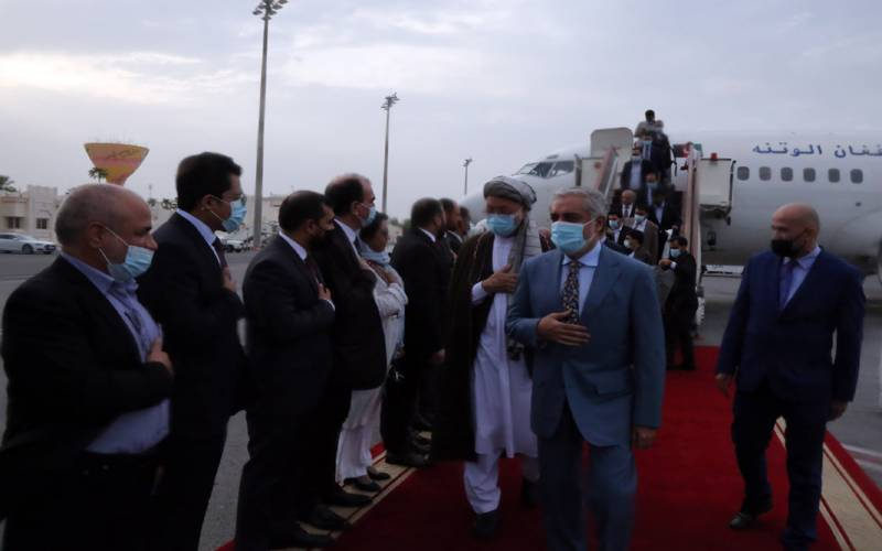 طالبان اور افغان سیکیورٹی فورسز کی لڑائی،افغان وفد دوحا پہنچ گیا۔