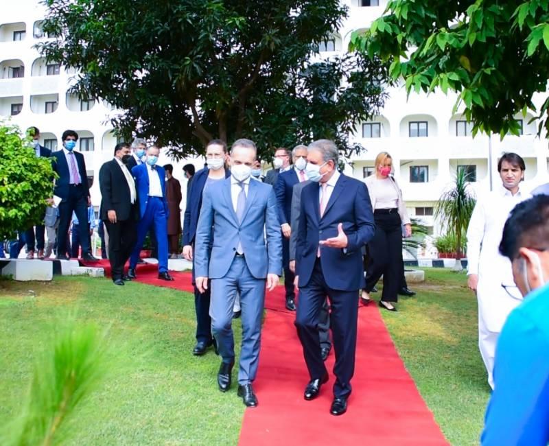 جرمن وزیر خارجہ ہائیکو ماس کی وفد کے ہمراہ وزارت خارجہ آمد
