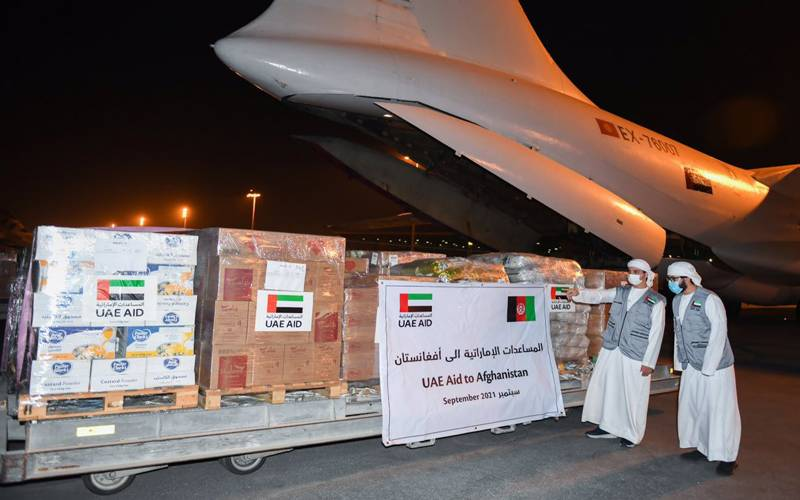 افغان عوام کے لیےامارات سے چوتھا طیارہ امدادی سامان لے کر کابل پہنچ گیا