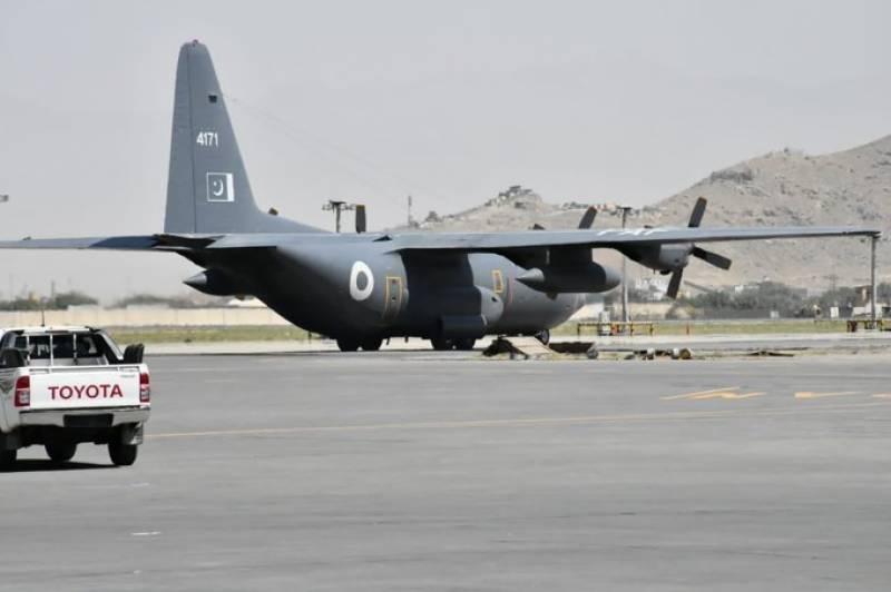 پاکستان سے 30 ٹن خوراک اور ادویات لے کر طیارہ افغانستان پہنچ گیا