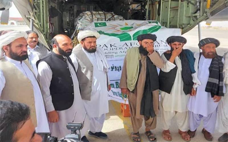 پاکستان کا سی 130 طیارہ امدادی سامان لے کر قندھار پہنچ گیا