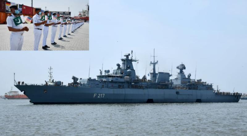جرمن بحریہ کے جہاز ایف جی ایس بائیرن کا دورہ پاکستان