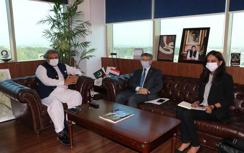 وفاقی وزیر برائے بحری امور علی زیدی کی عراق کے سفیر حامد عباس لفٹا سے ملاقات