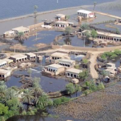 سندھ کے سیلاب سے متاثرہ علاقوں سے نکاسی آب نہ ہونے کے باعث متاثرین بدستور مشکلات کا شکار ہیں جبکہ وبائی امراض میں بھی اضافہ ۔