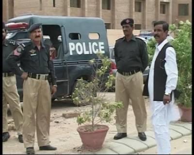 Karachi blast DIG soud Shokat Ali meeting in Darakshan Police Station