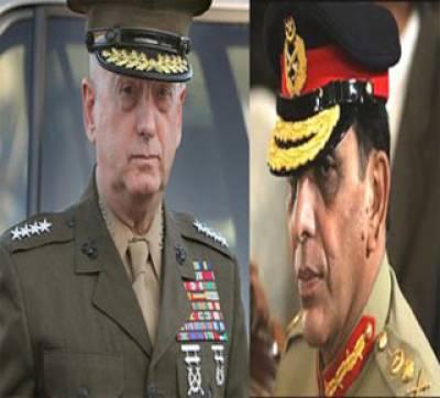 امریکی جنرل جیمز میٹس نے جنرل اشفاق کیانی سے ملاقات کی ، ملاقات میں پاکستان پر امریکی الزامات سمیت مختلف امور پر تبادلہ خیال کیا گیا