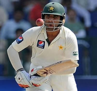 ابوظہی ٹیسٹ میچ میں پاکستان نے پانچ سو گیارہ چھ کھلاڑی آؤٹ پراننگ ڈکلئیر کردی توفیق عمر نے شاندار ڈبل سنچری سکورکی
