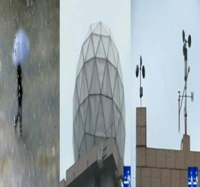 محکمہ موسمیات کے مطابق آئندہ چوبیس گھنٹوں کے دوران ملک کے بیشتر علاقوں میں تیز ہواﺅں اور گرج چمک کیساتھ بارش کا امکان ہے
