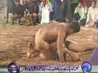 پاکستان اوربھارتی پہلوانوں کےدرمیان تیسرا دنگل آج فیصل آباد میں ہوگا۔