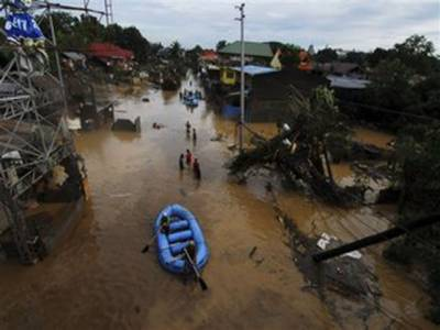 جنوبی فلپائن میں سمندری طوفان اور سیلاب، ہلاکتوں کی تعداد ایک سو تیس، دوسوافراد لا پتہ ۔