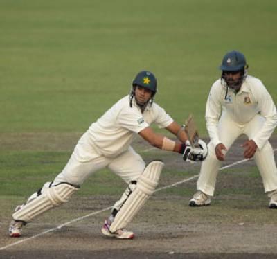 بنگلہ دیش کےخلاف ڈھاکہ ٹیسٹ کےدوسرے روز کھیل کےاختتام تک پاکستان نے ایک وکٹ پر ستاسی رنز بنا لئے