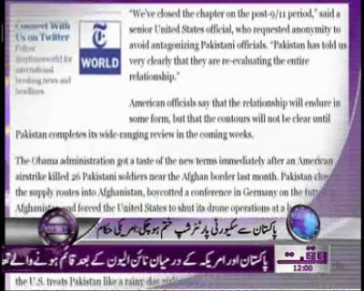 Waqtnews Headlines 12:00 PM 26 December 2011