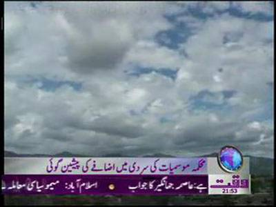 Weather News Package 28 December 2011
