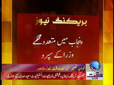Punjab Many Departments Given To Ministers News Package 02 February 2012