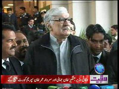 Asfandyar Wali Media Talk In Supreme Court of Pakistan News Package 13 February 2012