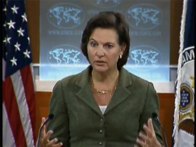 امریکا پاکستان کی علاقائی سالمیت کا احترام کرتا ہے اورصوبے میں تمام فریق اپنے اختلافات پرامن اور آئینی طریقے سے ختم کریں۔ وکٹوریہ نولینڈ