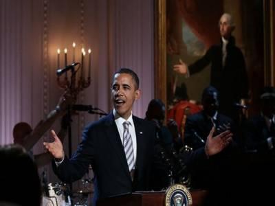 امریکی صدر باراک اوباما اورخاتون اول مشعل اوباما نے وائٹ ہاؤس میں میوزیکل نائٹ کا انعقاد کیا۔