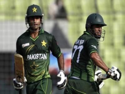 ایشیا کرکٹ کپ، قومی ٹیم کے اوپنرز محمد حفیظ اورناصر جمشید شاندار سنچریاں بناکر آؤٹ ہوئے