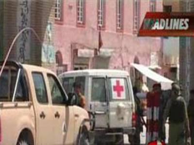 افغانستان میں نیٹو ملٹری بیس پر خود کش حملے میں چھ افغان جاں بحق اور چھ زخمی ہوگئے۔