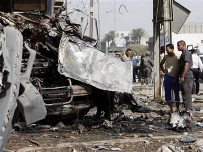 مغربی بغداد میں کیفے کے باہر کار بم دھماکے کے نتیجے میں تین افرادہلاک اور چودہ زخمی ہوگئے
