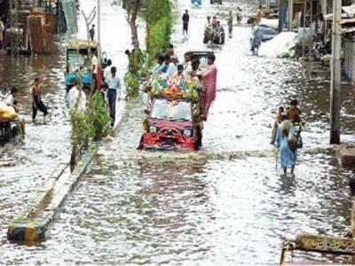 بارشوں نے اندرون سندھ میں بھی تباہی مچا دی ۔ بیشتر علاقوں کا زمینی رابطہ منقطع ،مختلف حادثات میں پینتیس سے زائد افراد جان کی بازی ہار گئے۔