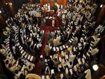 سندھ اسمبلی کے اجلاس میں بلدیاتی آرڈیننس پربحث کے دوران ایوان مچھلی بازاربن گیا، اپوزیشن جماعتوں نے الگ سے نشتیں الاٹ نہ کرنے پراسپیکرکے ڈائس کے سامنے دھرنا دیا۔
