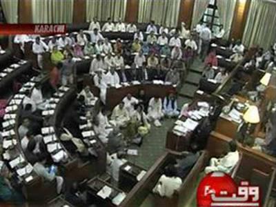 اپوزیشن کی مخالفت اور ہنگامہ آرائی کے باوجود سندھ اسمبلی میں پیپلز لوکل باڈیز آرڈیننس دوہزار بارہ کثرت رائے سے منظور۔