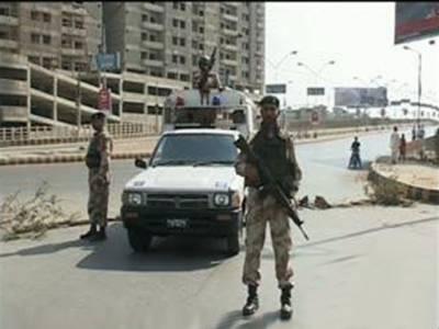 کراچی: ٹارگٹ آپریشن کے دوران جرائم پیشہ افراد اوررینجرزکےدرمیان فائرنگ, دوملزمان ہلاک, دو زخمی. بھاری اسلحہ اورواکی ٹاکی سیٹ برآمد۔
