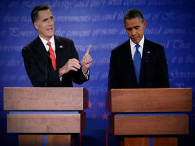 باراک اوباما اورمٹ رومنی کےدرمیان فیصلہ کن مباحثےمیں امریکی خارجہ پالیسی پربھرپوربحث، مشرق وسطٰی، پاکستان اور ایران کے جوہری ہتھیاروں سمیت متعدد معاملات پر اپنی رائے کا اظہار۔