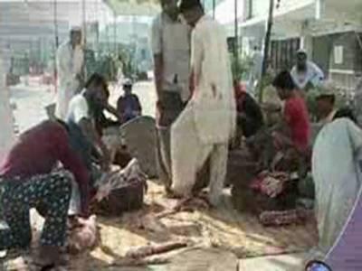 عید الاضحٰی کے تیسرے روز بھی گھروں میں قربانی کا سلسلہ جاری