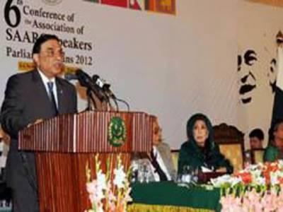 سارک ممالک کو خطے میں امن کیلئے کام کرنا چاہیے، دہشتگردی کے مرض کو ختم کرنا ہوگا۔ صدر آصف علی زرداری