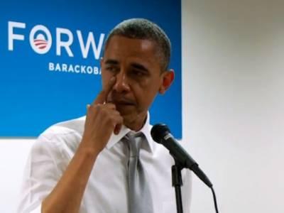 امریکی صدرباراک اوبامادوبارہ کامیابی کے بعدالیکشن ٹیم کا شکریہ اداکرتے ہوئے روپڑے