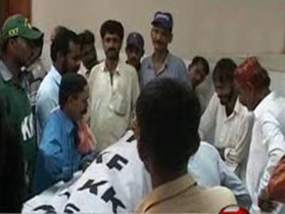 کراچی میں قتل و غارت کا سلسلہ جاری ہے، پرانی گولی مارمیں فائرنگ سےچارافراد جاں بحق. ٹارگٹ کلنگ کانشانہ بننےوالوں کی تعداد چودہ ہوگئی۔