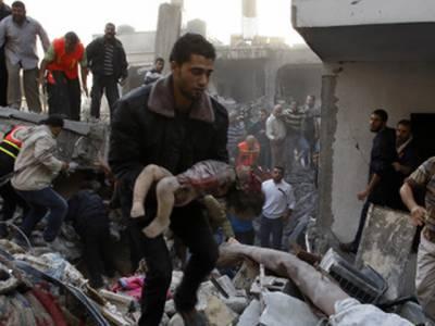 غزہ میں اسرائیلی فضائی حملوں میں مزید بیس فلسطینی شہید, شہید فلسطینیوں کی تعداد ایک سواکتالیس سے تجاوزکرگئی۔