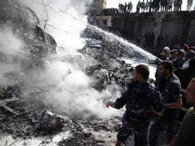یمن میں فوجی طیارہ تباہ ہونے کے نتیجے میں دس افرادہلاک ہوگئے
