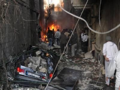 شام میں دوکاربم دھماکوں کے نتیجے میں چونتیس افرادجاں بحق ہوگئے ہیں۔