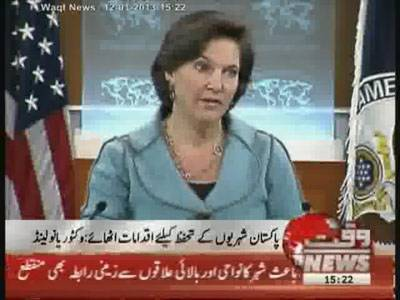 America Condemns About Inhumane Attack in Pakistan 12 January 2013