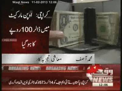 Dollar Prices Increase in Open Market 11 February 2013