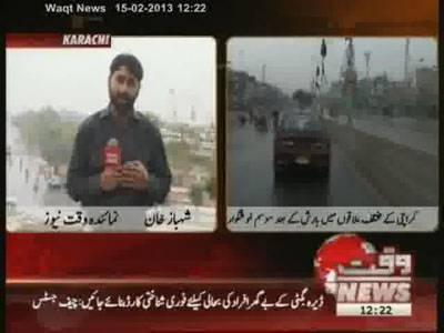 Pleasant Weather in Karachi 15 February 2013